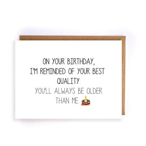 Sarcastic Birthday Card For Boyfriend Handmade Greeting Card Etsy