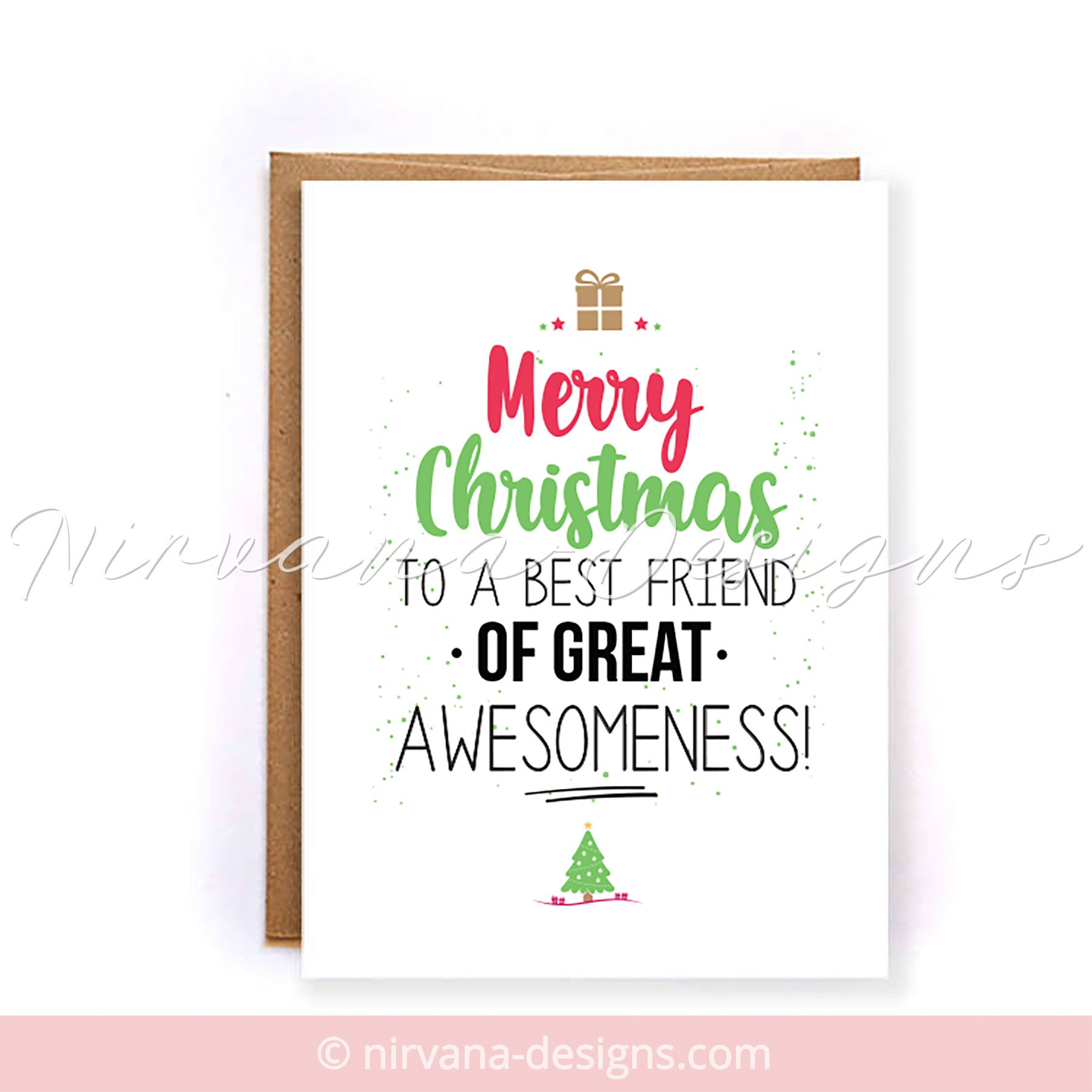 christmas cards for best friends merry christmas to an  etsy