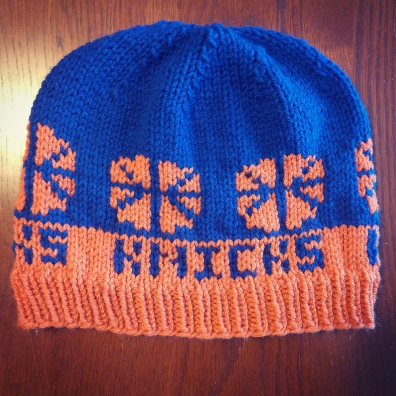 9b3c3039c New York Knicks Knit Hat // Basketball, Sports Apparel patterned handmade  hat