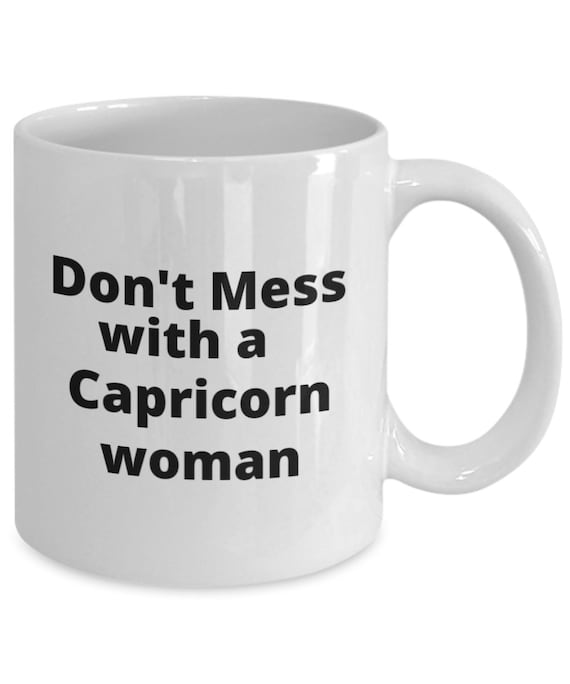 Capricorn woman zodiac sign coffee mug
