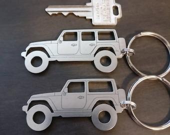 Jeep JK JKU 2door 4Door Wrangler Unlimited Keychains