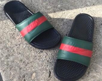10a4d9898 Custom GUCCI Slides