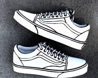 fabrycznie autentyczne najlepsza wartość buty na tanie Cartoon vans   Etsy