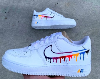 Custom air force 1 drip | Etsy