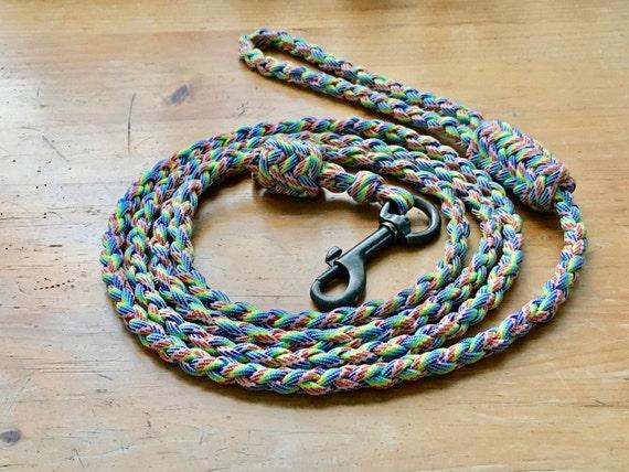 Paracord Leash, 4 Strand Round Braid, Herringbone, Custom Pet Supplies, Dog  Collar, 550 Paracord