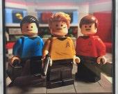 TINY Tarantino 39 s Enterprise - Star Trek - Framed Photo Print - 4 quot x 4 quot