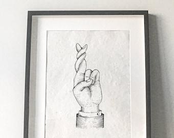 Super Luck, Super Suerte, Silk Screen, Serigrafia, Hecho a mano, Handmade, Open edition, 43cm X 32cm