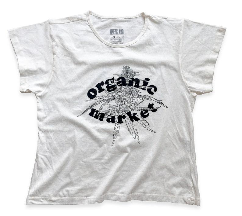 Organic Market Woman T-shirt  100% Organic Cotton  Slow image 0