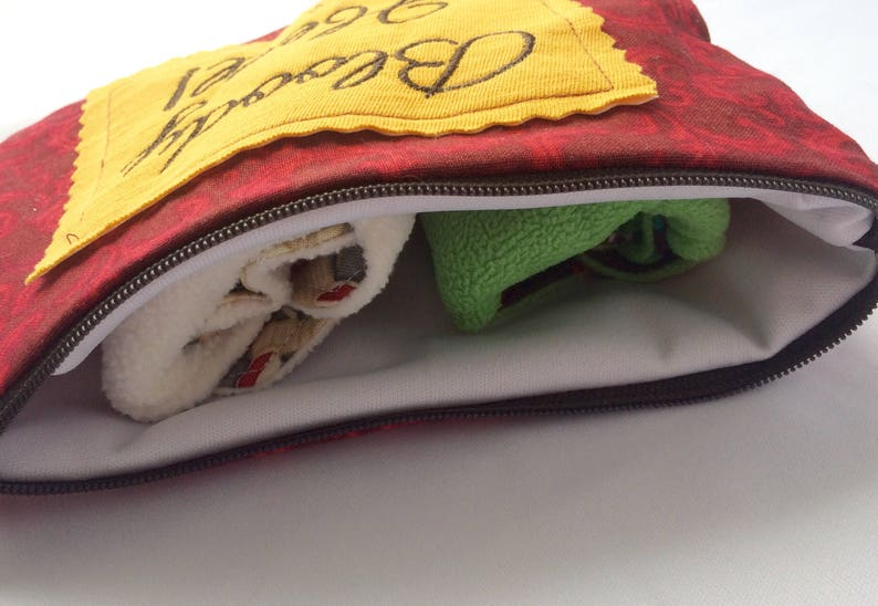 Gold Rumps Zipper Pouch Bloody Hell Wet Bag Crimson HP FREE SHIP Feminine Products Waterproof Bag Mama Cloth