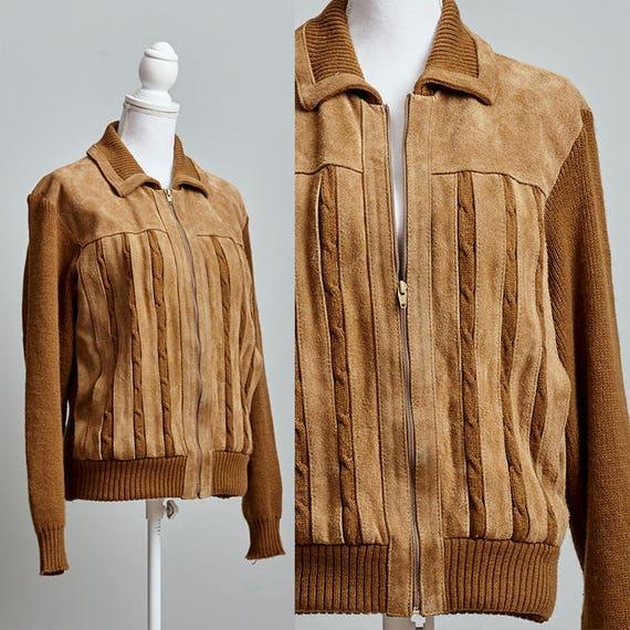 Vintage Suede Jacket, 80's Suede Jacket, Suede Jac