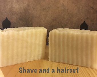 Handmade Homemade Soap Scented Shave and a Haircut!