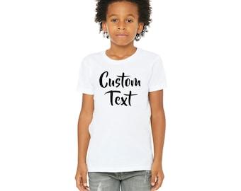 d65e5c64 Custom Shirts, Custom Kids Shirt, Custom Baby Shirt, Custom Text T-shirt,  Personalized Gift, Custom Toddler Shirt, Custom Youth Shirt