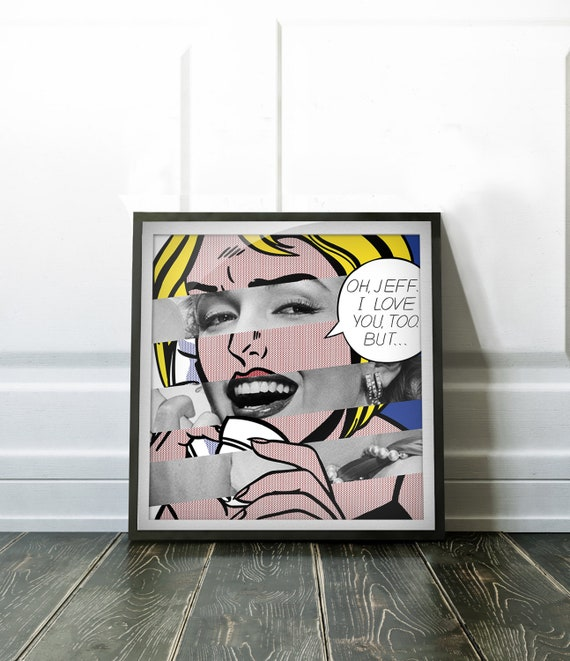 Roy Lichtenstein S Oh Jeff I Love You Too Etsy