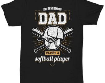 256d5c64c4 Softball Dad T-Shirt - The Best Kind of Dad Raises a Softball Player