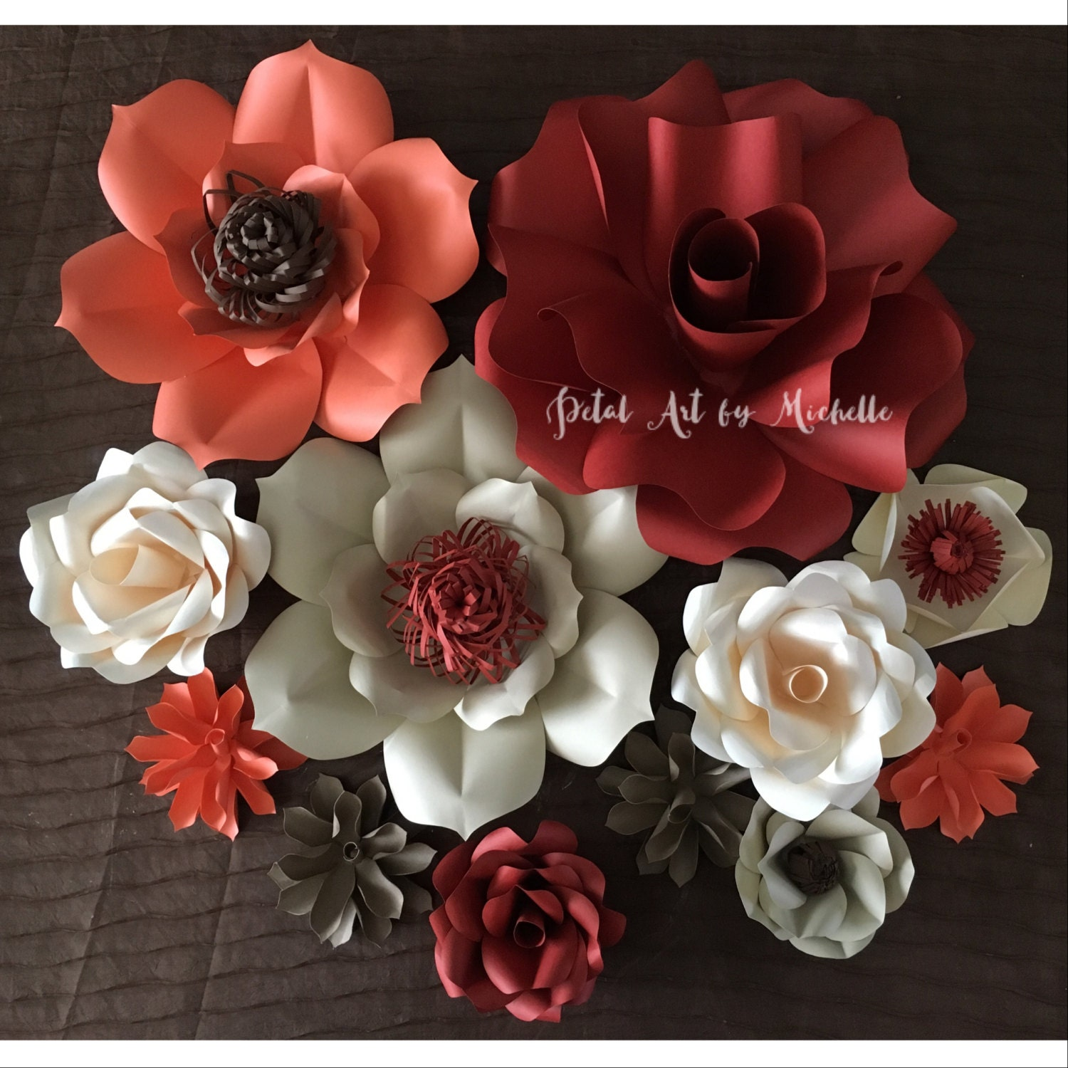 Cream coral paper flower backdrop paper flower decoration cream coral paper flower backdrop paper flower decoration wedding paper flower wall home decoration girl room decoration party decor mightylinksfo