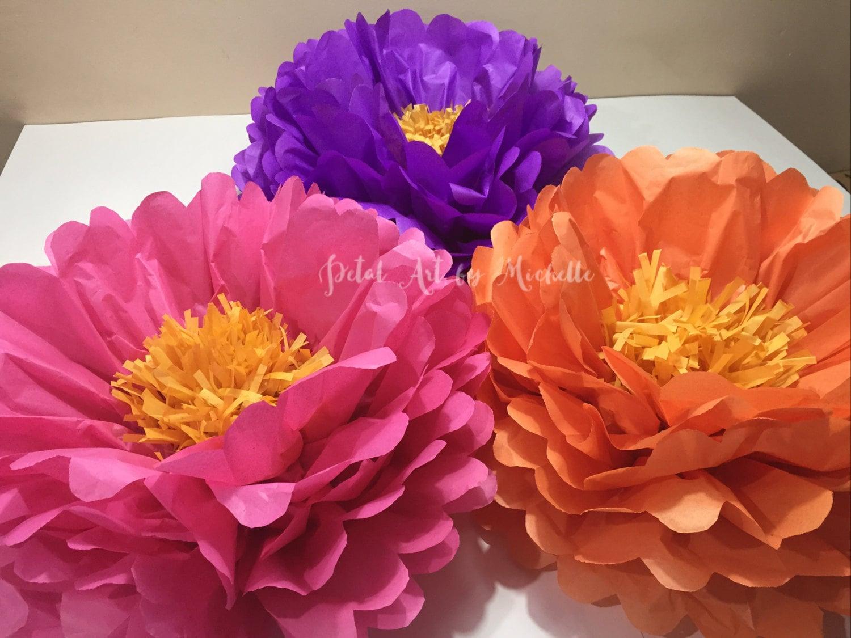 Medium Tissue Paper Flowers Pom Pom Flowers Nursery Decoration