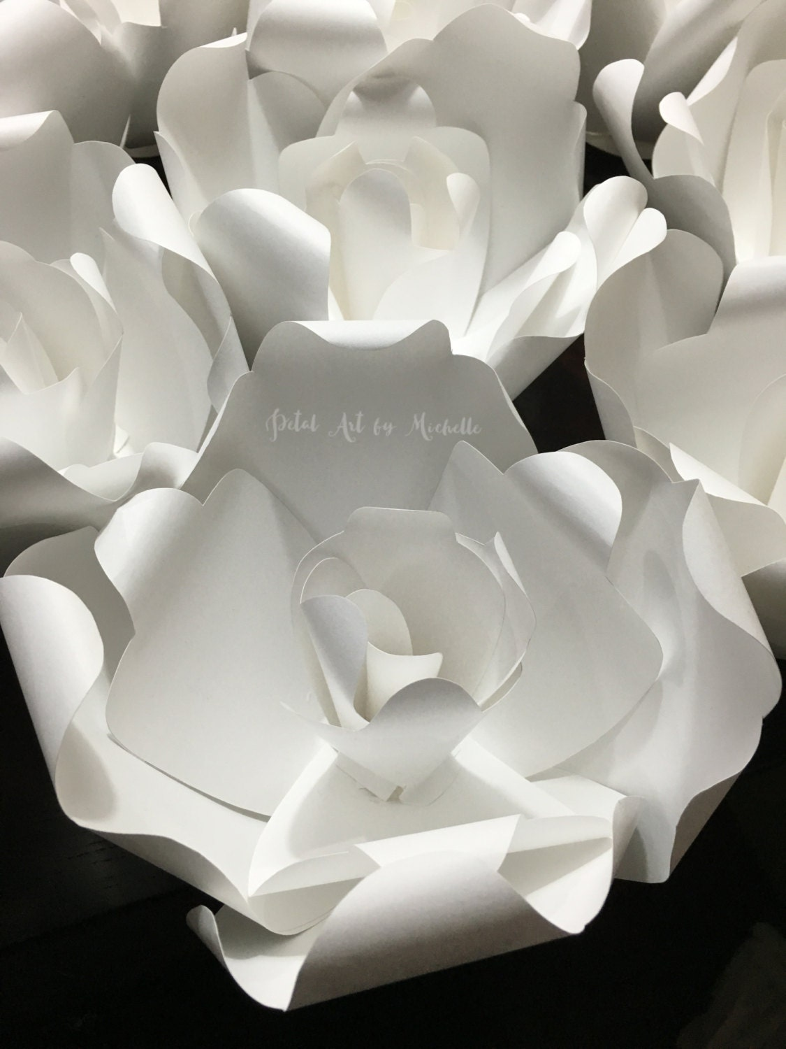 Paper Flower Escort Card Wedding Favor Wedding Place Setting