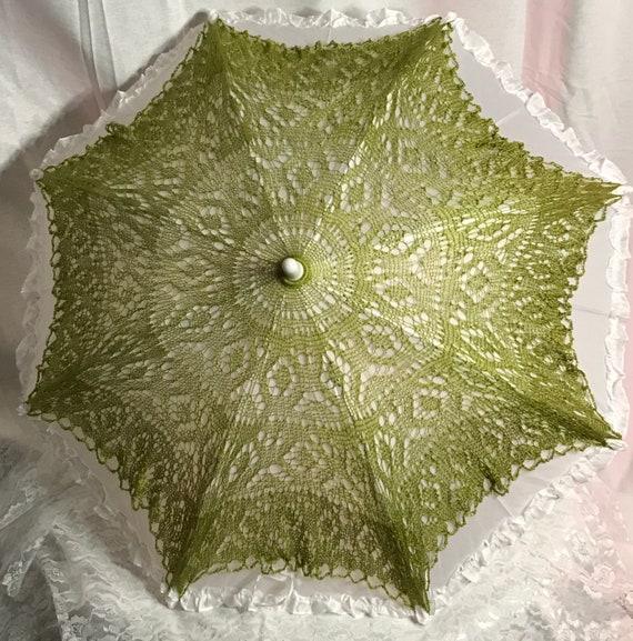 Green Lace Parasol