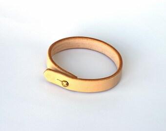 Leather Bracelet - Veg Tanned Bracelet - Handmade Bracelet - Leather Cuff - Natural