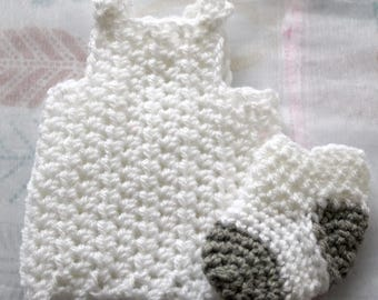 White Elf Smock // Doll Clothes // Dress-Up // Crochet