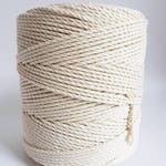 3 mm cotton rope. 1.5 kg Twisted cotton rope. Macrame rope. Macrame cord about 410 m cotton cord 3 strand macrame rope. Cotton string