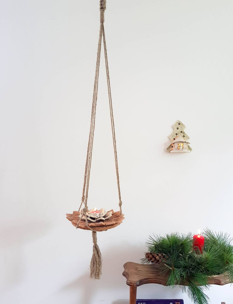 Hanging Plant Holder Hanging Planter Hanging Plant Stand Etsy