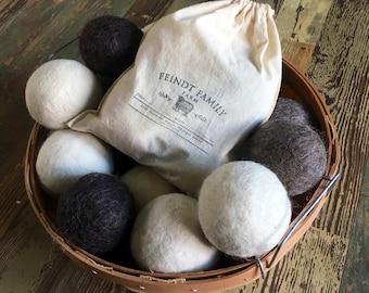 100% Border Leicester XL Wool Dryer Balls- Michigan Made