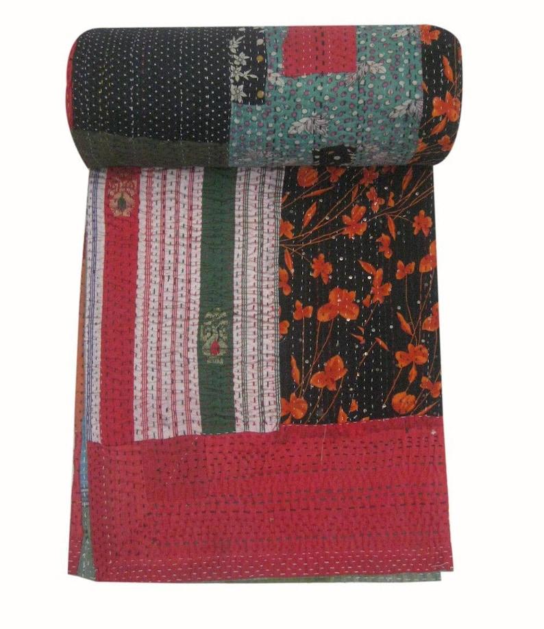 kantha Quilts-vintage kantha quilt-Handmade kantha quilts-bohemian kantha quilt