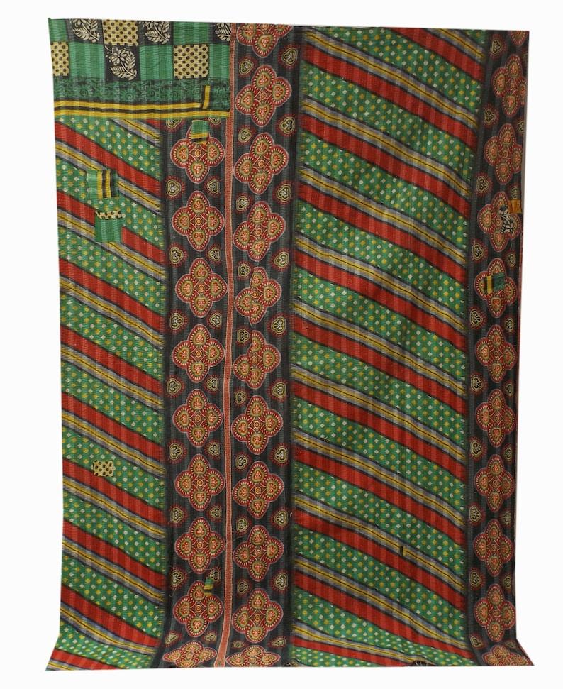 Vintage kantha quilt,handmade quilts,kantha quilt,vintage sari kantha quilt