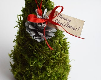 moss christmas tree woodland christmas christmas tree decor small christmas tree mini christmas tree christmas table centerpiece