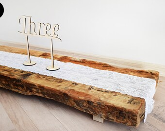 Rustic Centerpiece, Rough Wood Plank, Massive Reclaimed Wood Table Decor,  Recycled Wood, Rustic Wood Table Decor, Wedding Decor, Centrepiece