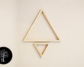 Set of 2 Triangle shelves - Modern shelving - Geometric shelf - triangle floating shelf - triangle table decor - triangles - wooden shelf