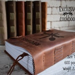 Exclusive leather cookbook/ 600 pages and 2.5 kg unique recipe book/Family heirloom/Personalized recipe book/3rd anniversary gift