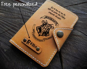 Harry Potter Passport Cover/ Leather Passport cover/Personalized Passport Case/Passport Wallet