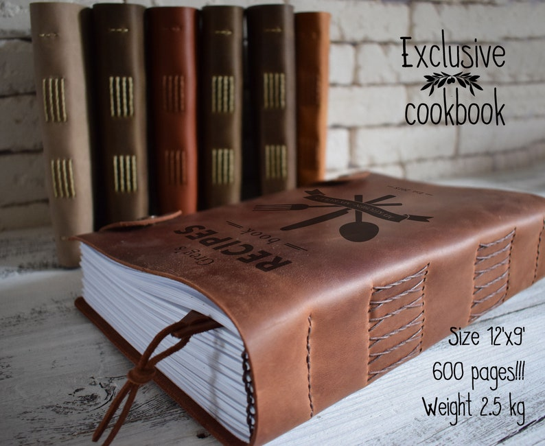 Exclusive leather cookbook/ 600 pages and 2.5 kg unique recipe image 0