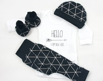 e5c7a5c138a Monochrome Baby Coming Home Outfit