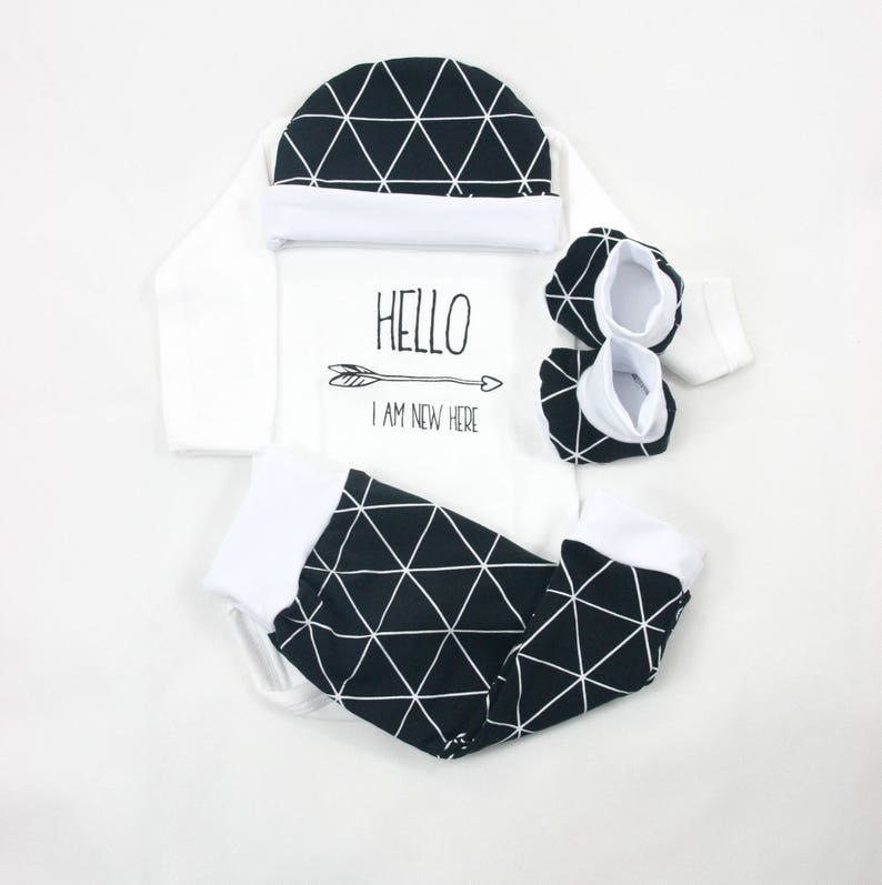 clothes set twins Monochrome Twins Baby coming home outfit Black and white outfit newborn unisex twins