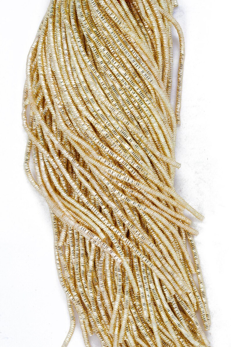 100 Gram Packet Light Gold in color French Metallic Gimp Copper Bullion Wire Wire For Embroidery Work