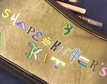 Shapeshifter makeup bag, zipper pouch, nonbinary, genderfluid, wristlet, makeup bag, pencil case, Loki