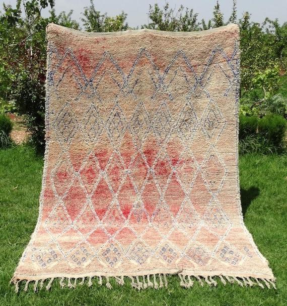 Old Vintage Moroccan Handmade Berber Rug Zayane Carpets
