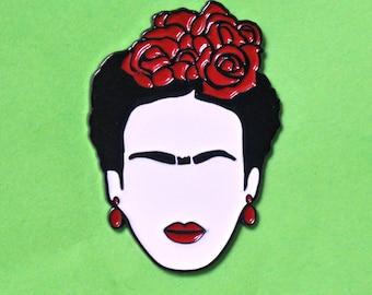 "Frida Kahlo enamel pin ""Cejas ""- enamel pins - label Pin - Frida Kahlo Gift"