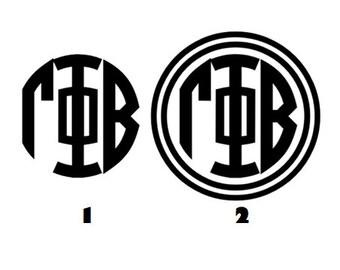 gamma phi beta monogram decal