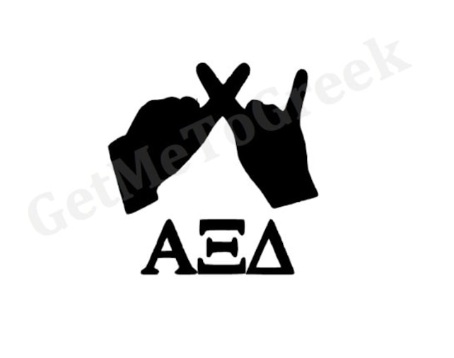 Alpha Xi Delta Hand Sign Decal Etsy