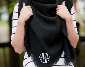 Blanket Scarf, FREE PERSONALIZATION, Personalized Scarf, Embroidered Scarf, Monogrammed Scarf, Personalized Gift