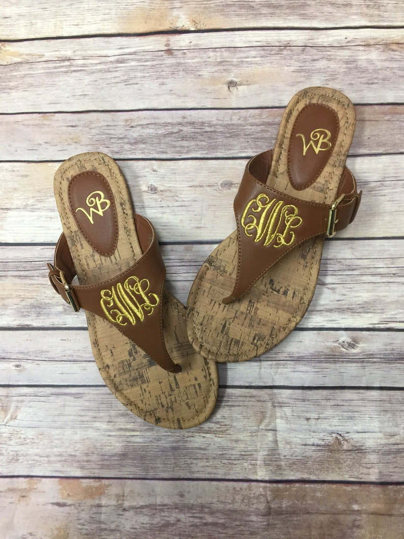 04d31e9e539e0 SALE!!! Mother's Day, Natalie Sandal, FREE Personalization, Monogrammed  Sandal, Personalized Sandal, Embroidered Sandal