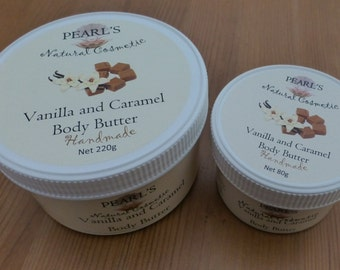 Vanilla and Caramel Body Butter, Vegan