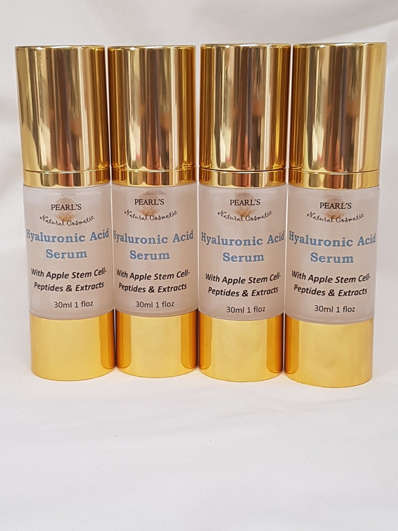 Hyaluronic Acid Serum with Apple Stem Cell & Peptides, Matrixyl 3000, Plant  Extracts, Oil Free Formula, Vegan
