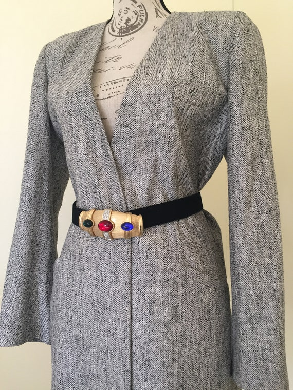 Blazer, Silk Blazer, Vintage Clothing, Oversized … - image 6