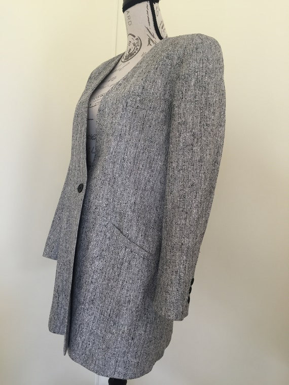 Blazer, Silk Blazer, Vintage Clothing, Oversized … - image 3