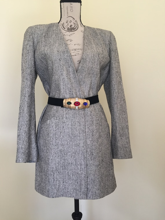 Blazer, Silk Blazer, Vintage Clothing, Oversized B